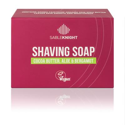 Akoma Shaving Soap Bergamot Black Mens Grooming Hair Popp UK black hair shop