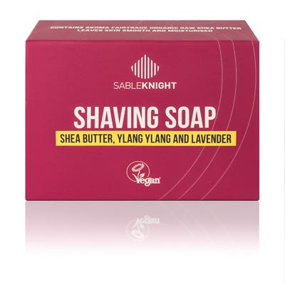 Akoma Ylang Ylang Shaving Soap Black Mens Grooming Shaving Soap Hair Popp UK black hair shop shea_butter_ylang_ylang_and_laander