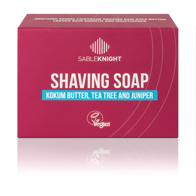 Akoma Tea Tree Shaving Soap Black Mens Grooming Shaving Soap Hair Popp UK black hair shop_kokum_butter_tea_tree_and_juniper