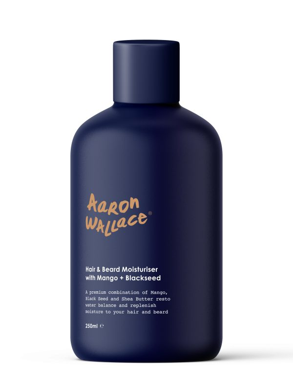 Aaron Wallace Hair Beard Moisturiser with Mango Butter and Blackseed Oil Hair Popp UK Black Hair Shop