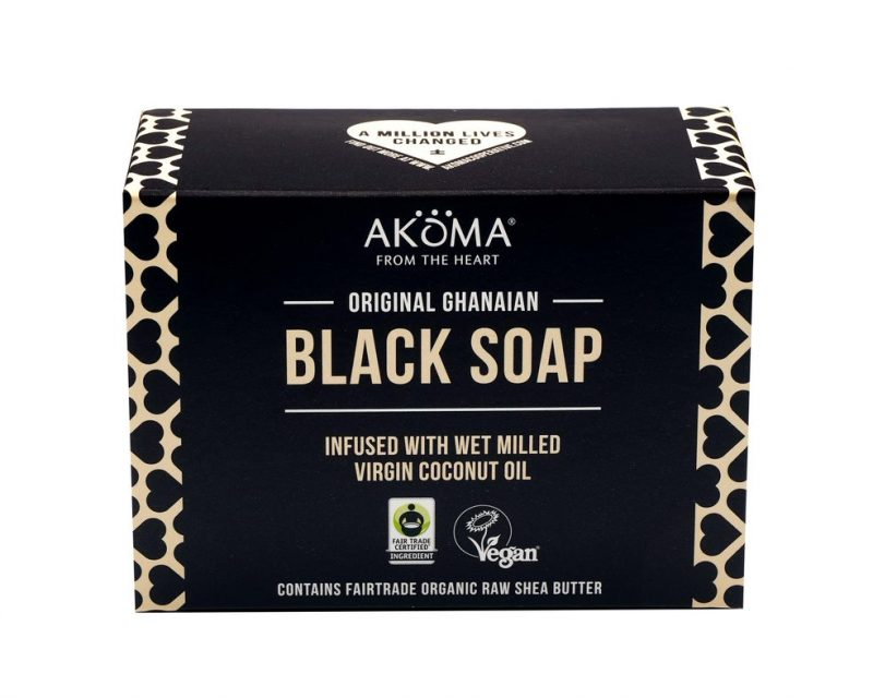 Akoma Original Ghanaian Black Soap 145g Hair Popp UK black hair shop