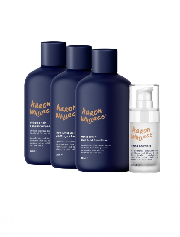 Aaron Wallace 4-step hair care system Hair Popp UK black Hair Shop